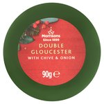 Morrisons Double Gloucester with Chive & Onion Truckle