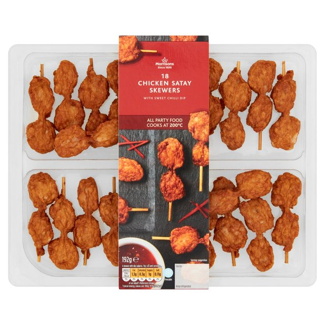 Morrisons Chicken Satay Skewers with Sweet Chilli Dip