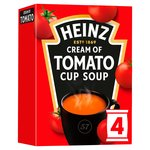 Heinz Cream of Tomato Cup Soup 4 Sachets