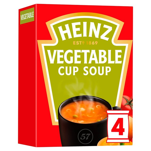 Heinz Cream of Vegetable Cup Soup 4 Sachets
