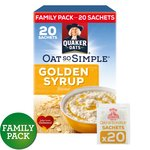 Quaker Oat So Simple Gold Syrup Sachets