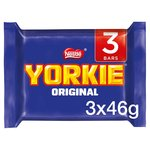 Yorkie Milk Chocolate Bar Pack of 3