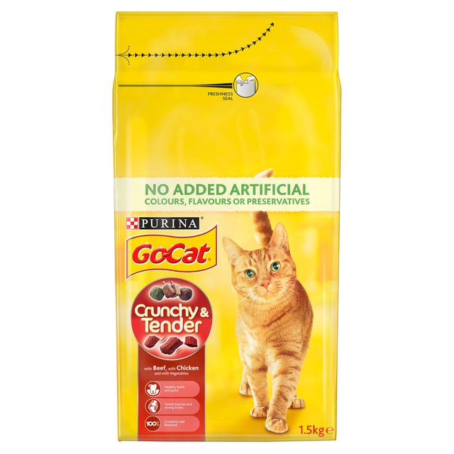 Go-Cat Crunchy and Tender Cat Food Beef