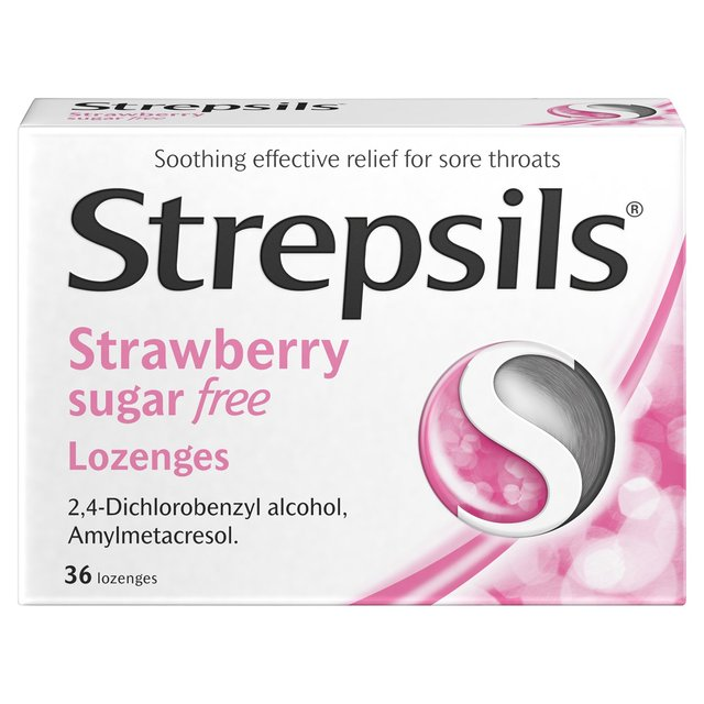 Strepsils Sugar Free Strawberry