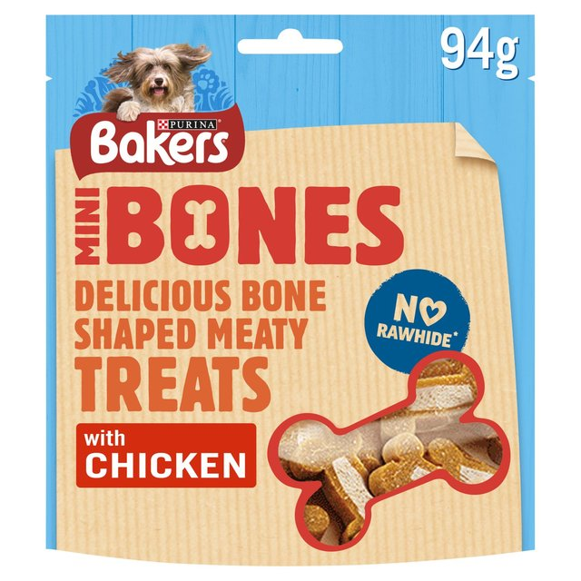 product treats bakers treat chicken mini bones
