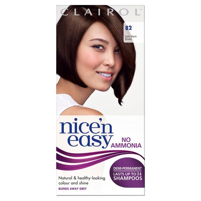 clairol nice and easy non permanent colour chart: Morrisons nice n easy non permanent hair colour dark warm brown