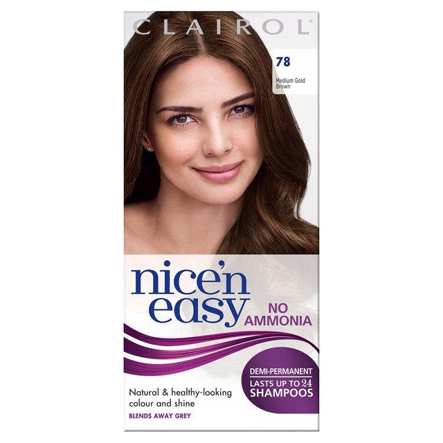 Nice'n Easy Non-Permanent Hair Colour Medium Golden Brown 78