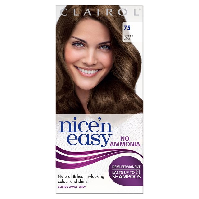 clairol nice and easy non permanent colour chart: Morrisons nice n easy non permanent hair colour light ash brown