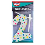 Dr. Oetker Number 2 Candle