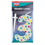 Dr. Oetker Number 3 Candle