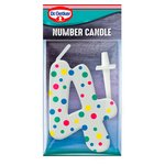 Dr. Oetker Number 4 Candle