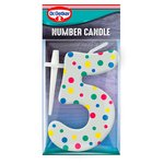 Dr. Oetker Number 5 Candle