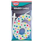 Dr. Oetker Number 6 Candle