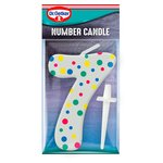 Dr. Oetker Number 7 Candle