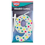 Dr. Oetker Number 9 Candle