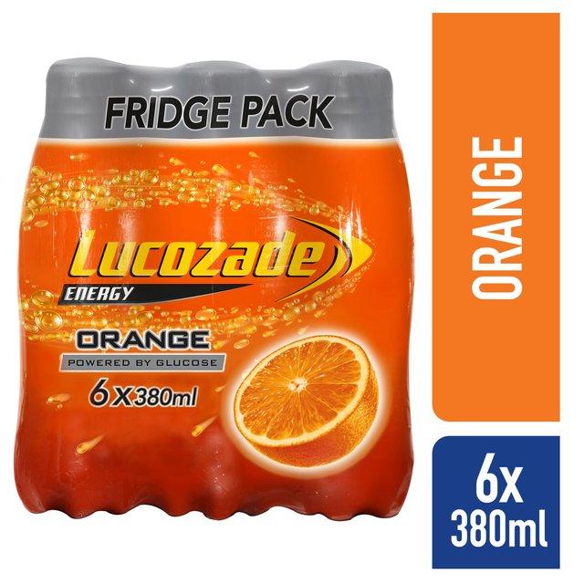 Morrisons Lucozade Energy Orange Delivered Chilled 6 X