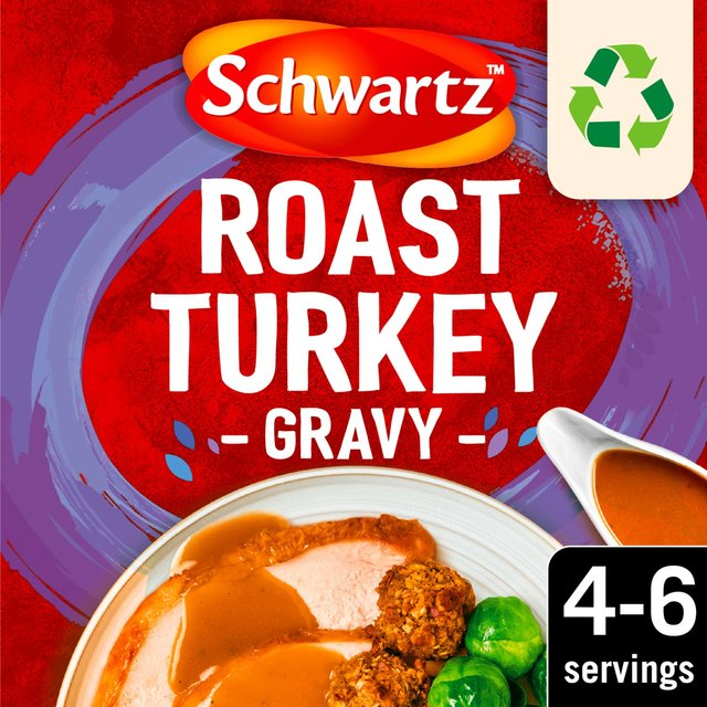 Morrisons: Schwartz Roast Turkey Gravy Mix 25g(Product Information)