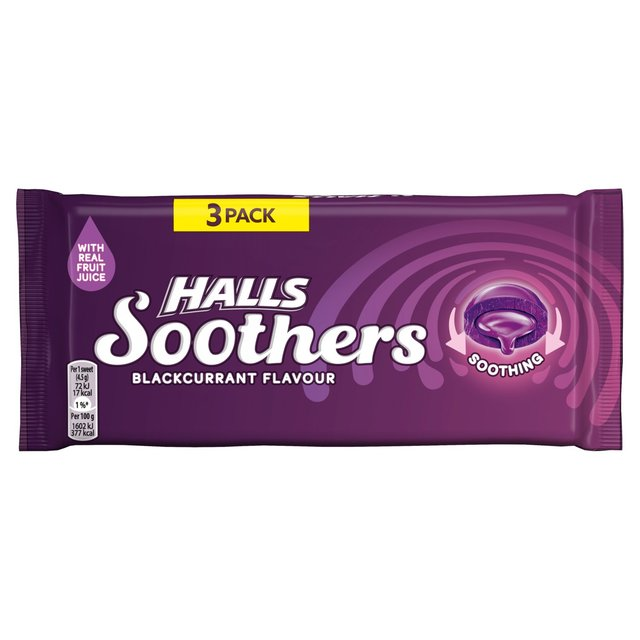 Halls Soothers Blackcurrant 3 Pack