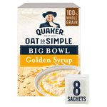 Quaker Oat So Simple Big Bowl Golden Syrup Porridge 8x49.6g