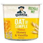 Quaker Oat So Simple Honey & Vanilla Porridge Pot 57g
