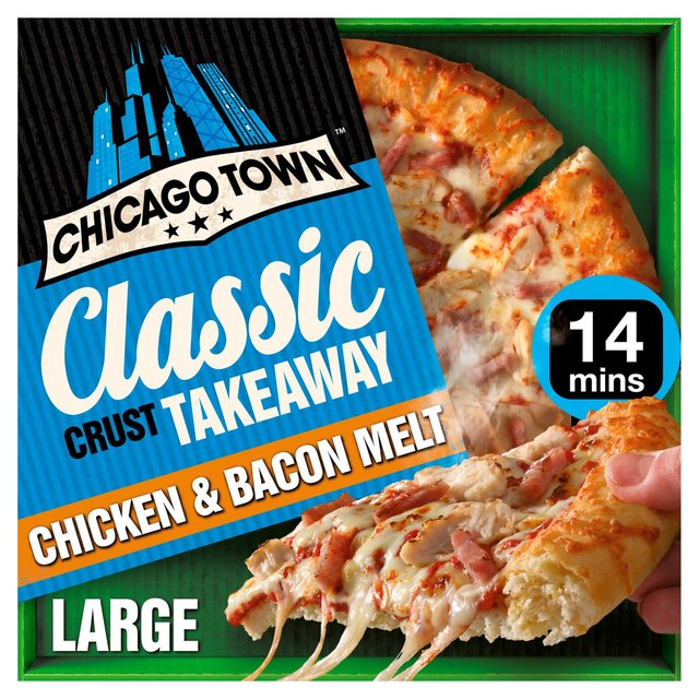 Chicago Town Takeaway Large Chicken & Bacon Pizza