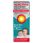 Nurofen for Children Strawberry Cold Fever/Pain Ibuprofen