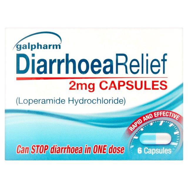 Morrisons: Galpharm Diarrhoea Relief 2 Mg Capsules 6 per
