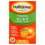 Haliborange 60s A,C,D Orange Tablets
