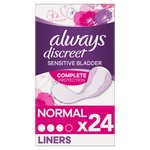Always Discreet Incontinence Liners Normal For Sensitive Bladder 24 pack