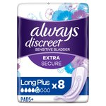 Always Discreet Incontinence Pads+ Long Plus Sensitive Bladder 8 pack