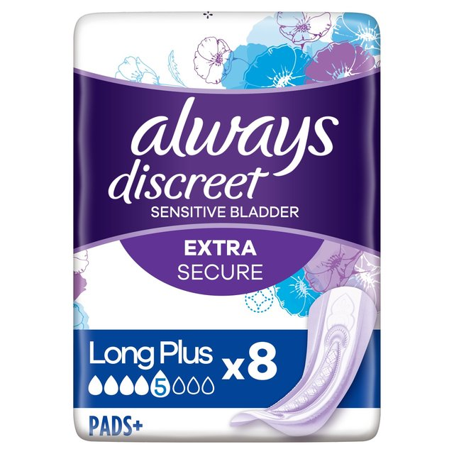 Always Discreet Incontinence Pads+ Long Plus