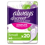 Always Discreet Incontinence Pads Small for Sensitive Bladder 20 pack