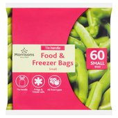 Morrisons Tie Handle Food & Freezer Bags Small