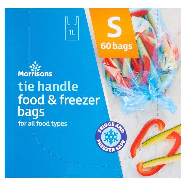 morrisons tie handle food u0026 freezer bags small