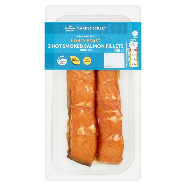 Morrisons Hot Smoked Honey Roast Salmon Fillets 2 Pack