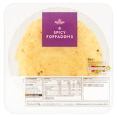 Morrisons Poppadoms Spicy