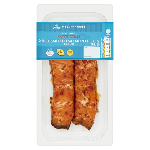 Morrisons Hot Smoked Sweet Chili Salmon Fillet 2 Pack