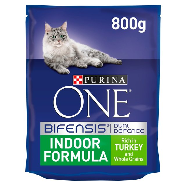 Morrisons: Purina One Indoor Cat Turkey and Whole Grain 800g(Product Information)