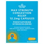 Morrisons Max Strength Decongestant Capsules