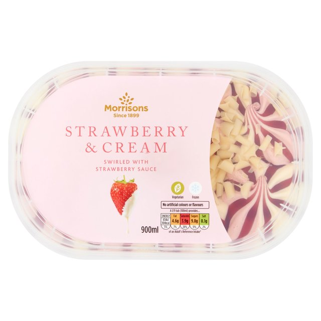 Morrisons Strawberry & Cream Ice Cream Sundae