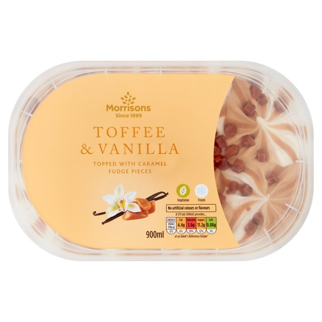 Morrisons Toffee & Vanilla Ice Cream Sundae