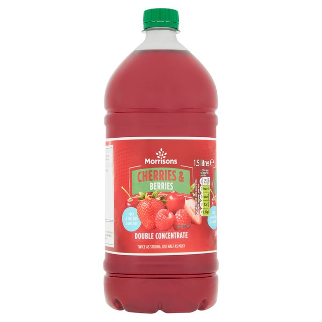 Morrisons Cherry & Berry No Added Sugar Squash Double Concentrate