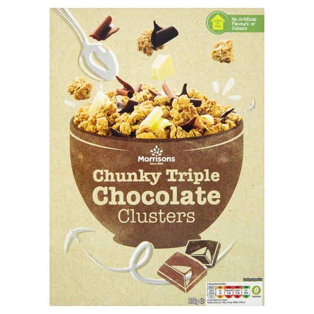 ... Morrisons Chunky Triple Chocolate Clusters 375g(Product Information