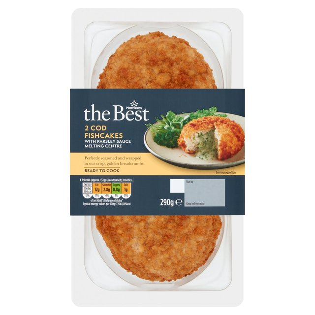 Morrisons The Best 2 Cod & Parsley Sauce Fish Cakes