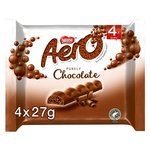 Aero Bubbly Milk Chocolate Chunky Bars Pack of 4
