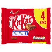 KitKat Chunky Milk Chocolate Bar Pack of 4