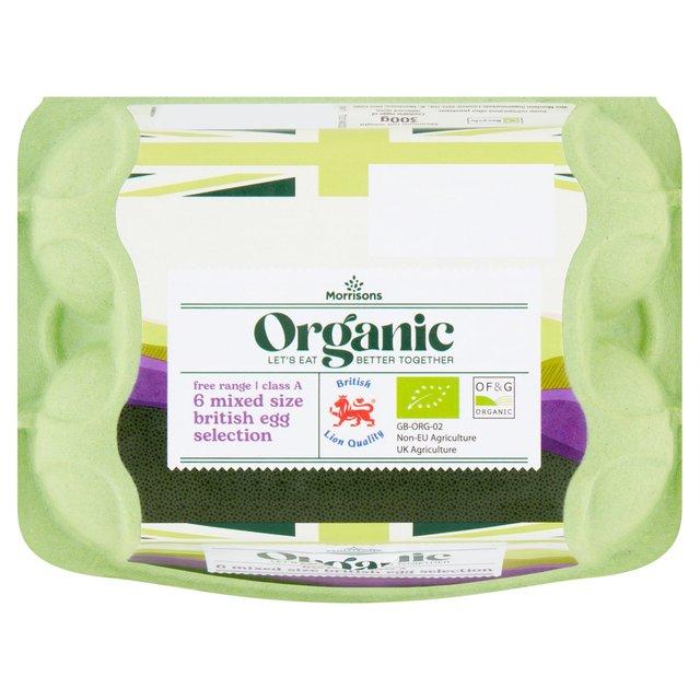 Morrisons Organic Eggs 6 pack