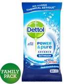 Dettol Power & Pure Bathroom Cleaning Wipes