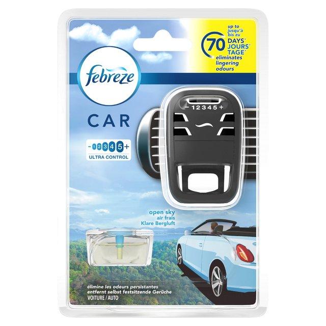 Morrisons Febreze Car Open Sky Air Freshener Product