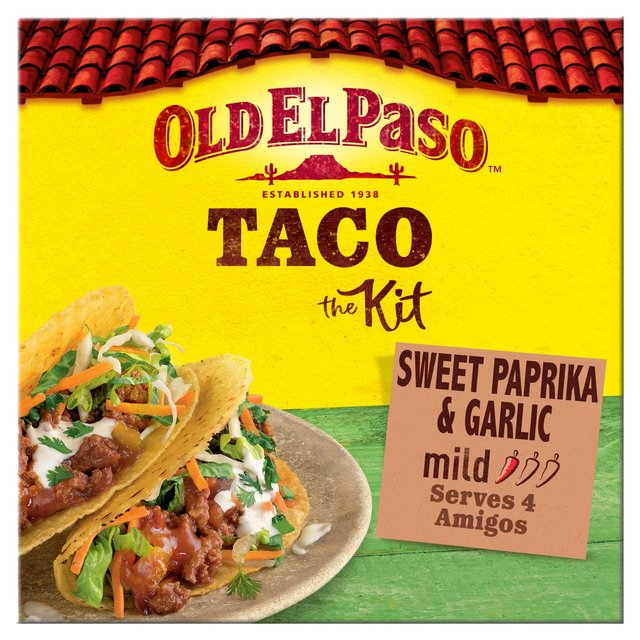 Old El Paso Sweet Paprika Garlic Taco Kit 308g Morrisons